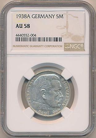 "Set of Germany Coins 1 2 pfennig with Swastika -/""N116/"" 2 Reichsmark"