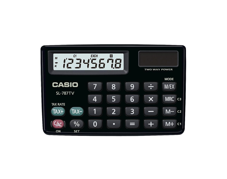 CASIO Calcolatrice Elettronica Finanziaria, Colore Nero SL-787TV-BK-S-EH