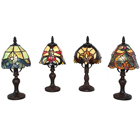 Amazon.com: Conjunto de 4 familia favoritos estilo Tiffany ...