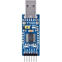 FT232 USB UART karta adaptera (typ A) USB na szeregowy TTL FT232RL moduł 3,3 V-5 V, TXD LED/RXD LED/POWER LED 3 diody…