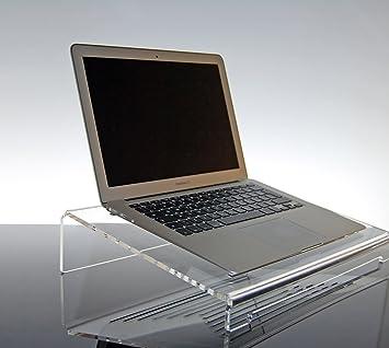 Soporte ventilado para Ordenador portátil Notebook de plexiglás Transparente Giano para MacBook Pro, Air, Lenovo, Laptop: Amazon.es: Electrónica