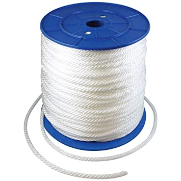 Amazon.com : 1000 Foot Spool 1/4 in Halyard Rope : Flagpole Hardware ...