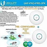 Ubiquiti Unifi UAP Pro Dual Band Access Point 802.11n PRECONFIGURED (2Pack)