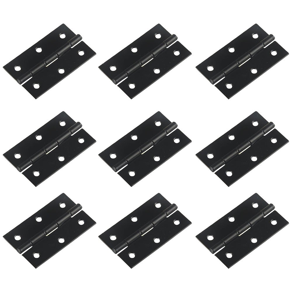 RZDEAL Light-Medium Duty Door Hinges with Radius Corners 2.3 x1.3 x 0.03 IN (58 x 33 x0.8 mm) Matte Black 20 PCS by RZDEAL