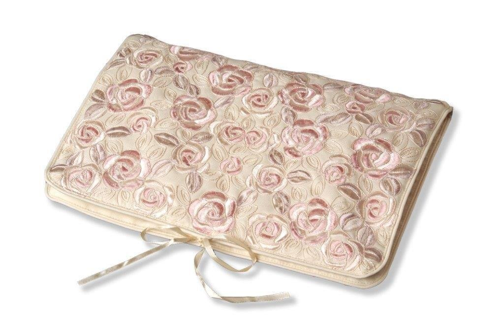 Justina Claire Mackintosh Bed of Roses Design Lingerie Case in Cream and Pink Colors