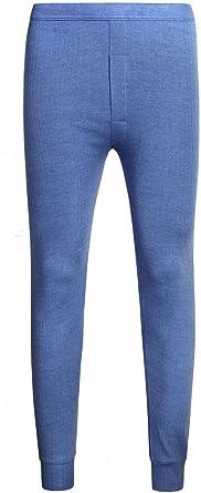 Adam & Eesa - Camiseta térmica para hombre, manga larga, con calzoncillos largos Azul Parte inferior: azul. XX-Large: Amazon.es: Ropa y accesorios