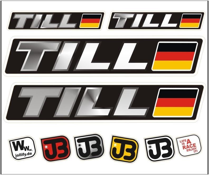 JOllify TILL Auto Fahrrad Motorrad Kart Helm Fahrername Aufkleber Sticker Flagge