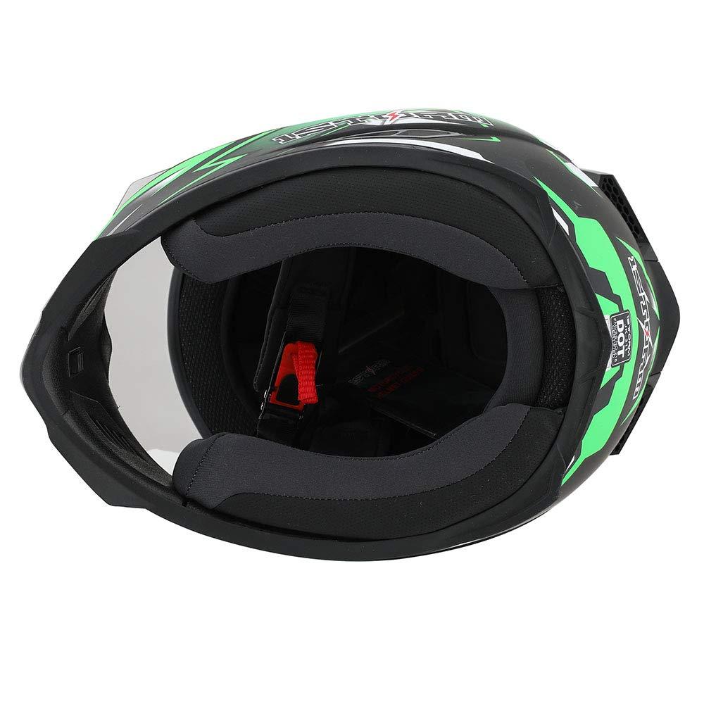 55-56 CM,21.7//22.0 Inch 1STorm Motorcycle Full Face Helmet Star King Matt Blue Size Medium One Extra Clear Shield