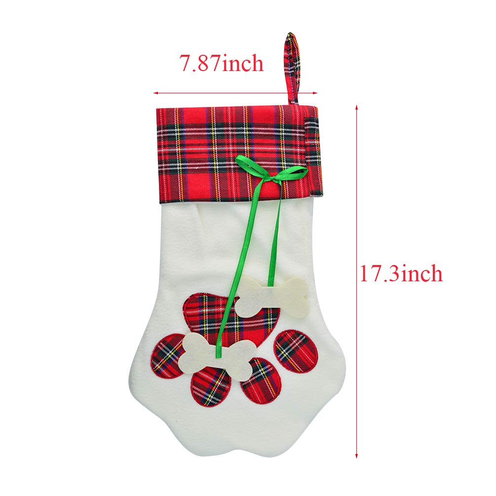 bf205974d2d 50% discount on Yolyoo 2pcs Dog Paw Christmas Stocking