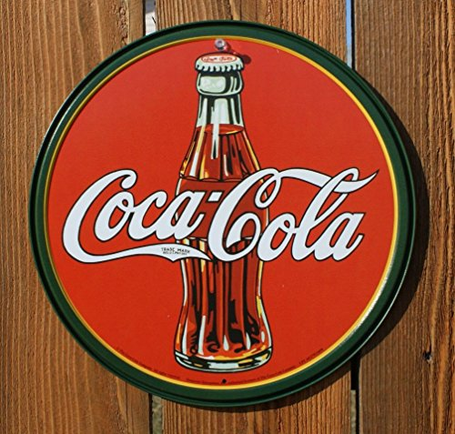 Coca-Cola Bottle Round Metal Sign 12 by 12 inch 1 -