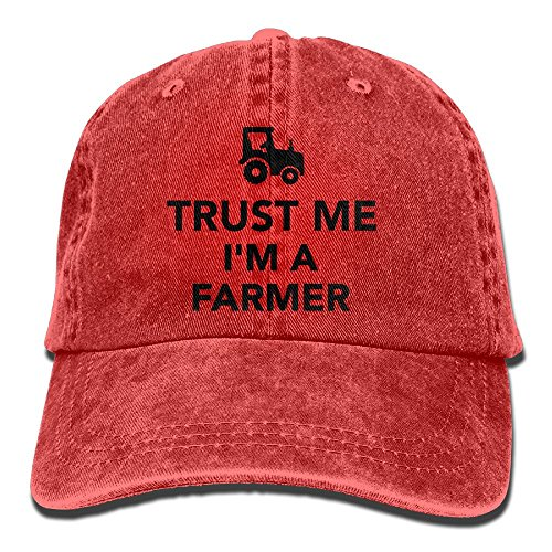 Arsmt Trust Me I Am Farmer Tractor Denim Hat Adjustable Women Flag Baseball Cap
