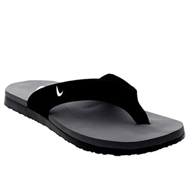 Nike Men's Celso Thong Plus Sandal (12, Black/White-Cool Grey)