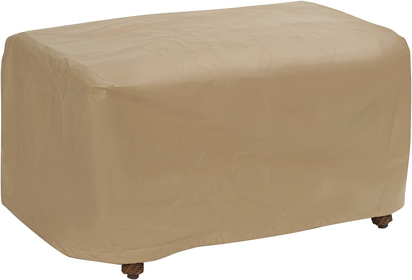 Protective Covers Weatherproof Ottoman Cover, Large, Tan - 1116-TN