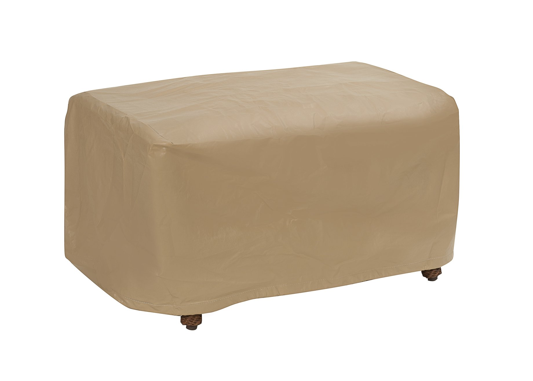 Protective Covers Weatherproof Ottoman Cover, Small, Tan