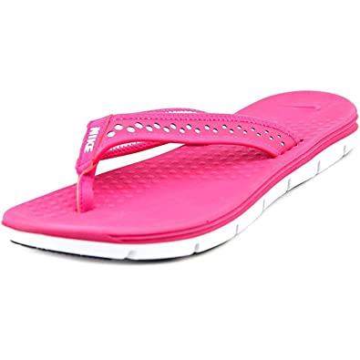 29a116d5d24 Nike Flex Motion Womens Thong Sandals (Size 5) Pink/White