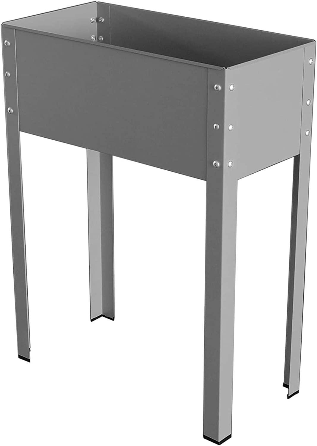 Bio Green MHF Galavized & powdercoated Metal Elevated Planter Freising-L,24x12x31.5, Small, Antracite