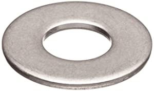 "316 Stainless Steel Flat Washer, Plain Finish, 1"" Hole Size, 1-1/16"" ID, 2"" OD, 0.125"" Nominal Thickness (Pack of 5)"