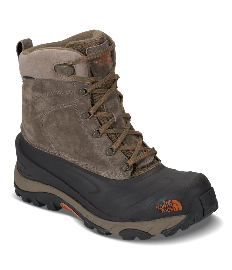 The North Face Mens Chilkat III Boot - Mudpack Brown/Bombay Orange - 11