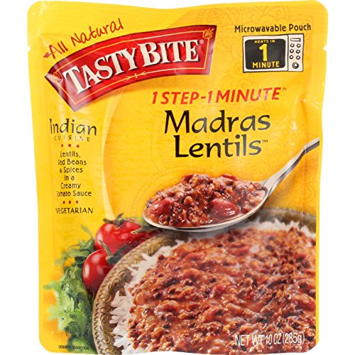 Tasty Bite Entree - Indian Cuisine - Madras Lentils - 10 oz - case of 6