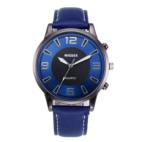 Relojes Hombre Elegantes Cuero, ❤ Zolimx Hombre Reloj Deportivo Militar Reloj Smart Moda Reloj