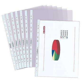 Herlitz 5824008 - Archivador de bolsillo (A4), 100 unidades: Amazon.es: Oficina y papelería