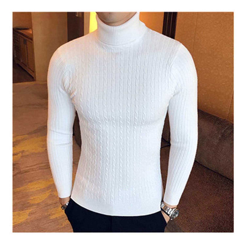 Susie Zechariah Winter Thick Warm Sweater Men Turtleneck Slim Fit Pullover Men Knitwear Double Collar
