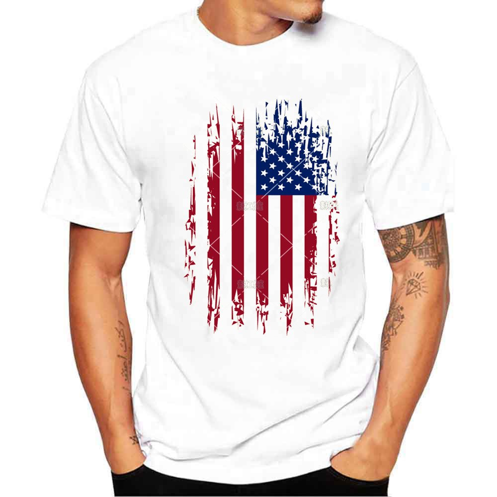 Amazon Hot Sale T Shirts For Men Charberry Fashion Flag Print