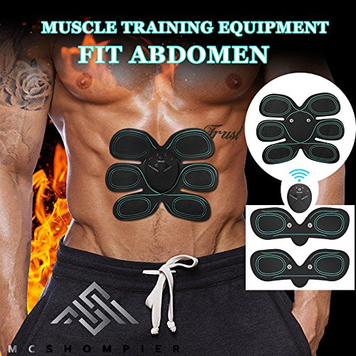 Premium Abs Stimulator – Ab Muscle Toner for Women & Men – Muscle Stimulation Belt Machine w/ Pads That Stick Always. Tone, Tighten, and Strengthen Abdominal, Arms & Legs During Work, Rest or Exercise