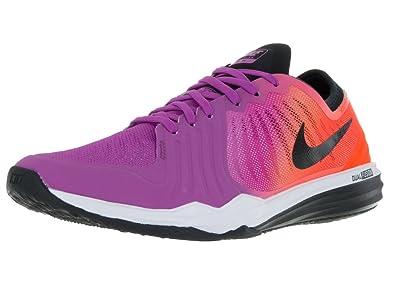 finest selection 53bcb 9f41b Nike W Dual Fusion TR 4 Print, Chaussures de Gymnastique Femme, Jaune Noir