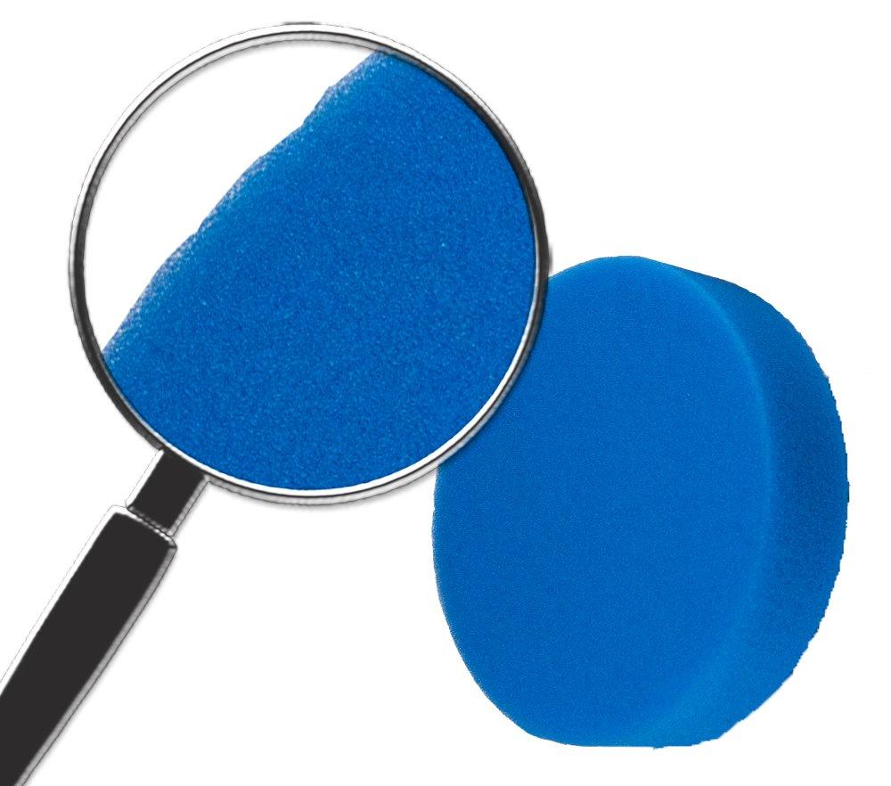 72-115x4-4PK Pack of 4 Cyclo Blue Foam Polishing Pad with Loop,