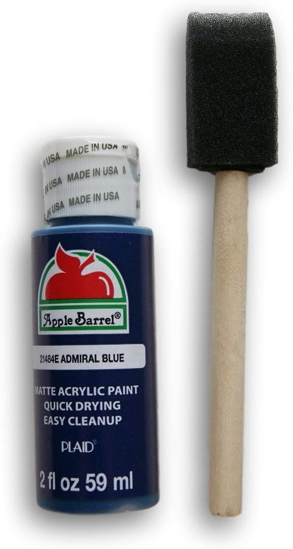 Apple Barrel Acrylic Paint Set - Admiral Blue with Foam Starter Brush