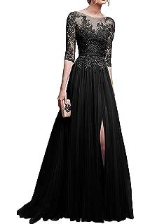 Amazon.com  V Neck Prom Dresses Beading Chiffo Party Evening Elegant ... 740ff3d06