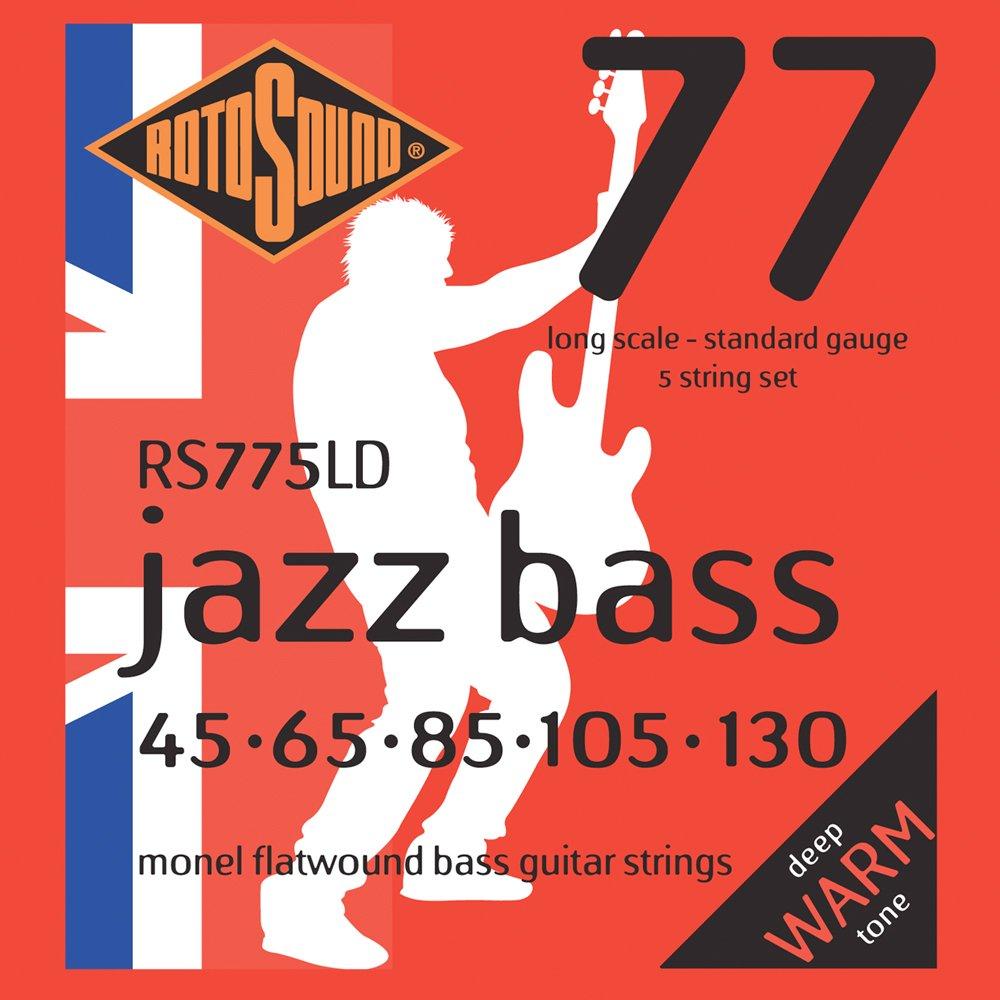 RS 775LD Jazz Saiten 5-st flat f黵 E-Bass 45 - 130 long scale Rotosound RS775LD