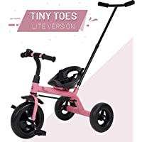 R for Rabbit Tiny Toes Lite Smart Plug and Play Baby Tricycle Trike Cycle for Kids of 1.5 to 5 Years with Parental Control (Pink)