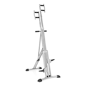 CAPITAL SPORTS Climbhigh Climbing Machine Máquina de escalada de montaña vertical (altura regulable, entrenamiento en casa) - plateado: Amazon.es: Deportes ...