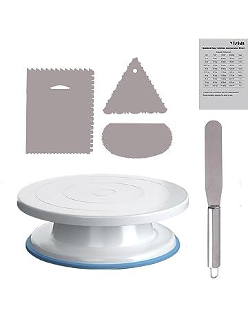 Para tartas Tocadiscos, yizish 11 cm soporte para tartas con acero inoxidable espátula para glaseado