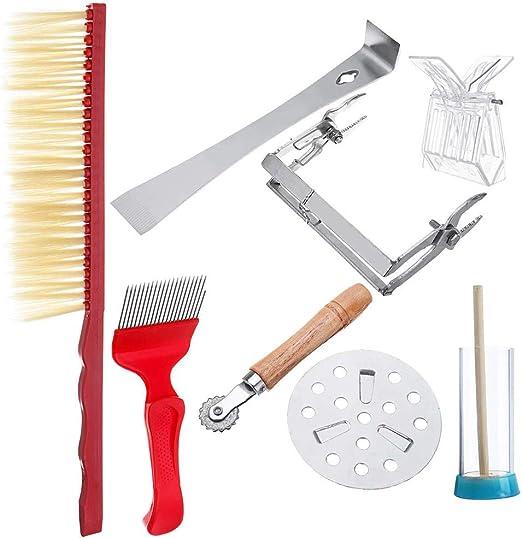 ahumador horquilla descapsuladora y levantador de marco herramienta de colmena rotulador y jaula Kit de herramientas de apicultura