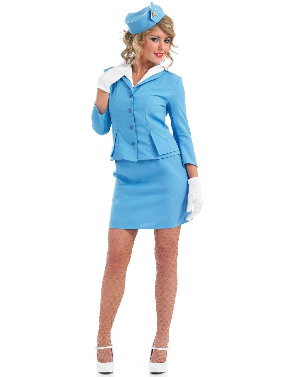 Fun Shack Cabin Crew  bluee  Adult Fancy Dress Costume  Large  1618