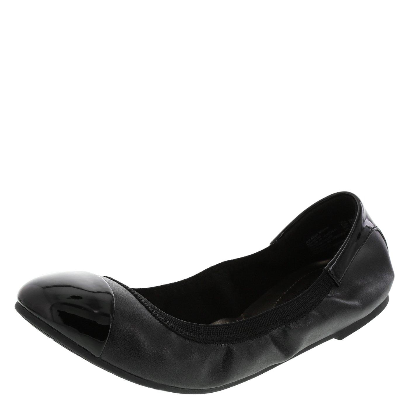 dexflex Comfort Women's Black Claire Scrunch Flat 11 M US