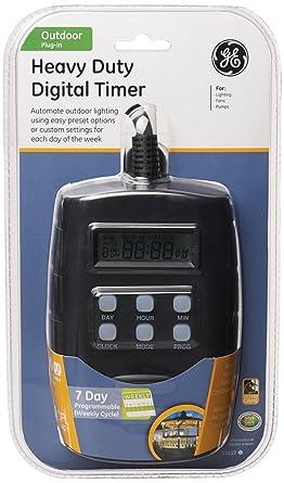 Captivating GE 15117 Outdoor Landscape Lighting Digital Timer 15A 120VAC 1000W 1/4 HP