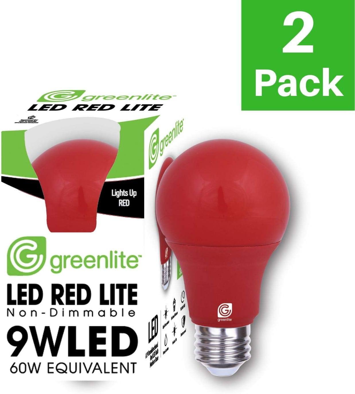 9W, 2 Pack E26 Medium Base 60W Equivalent UL Listed, 120V LED A19 Blue Light Bulb