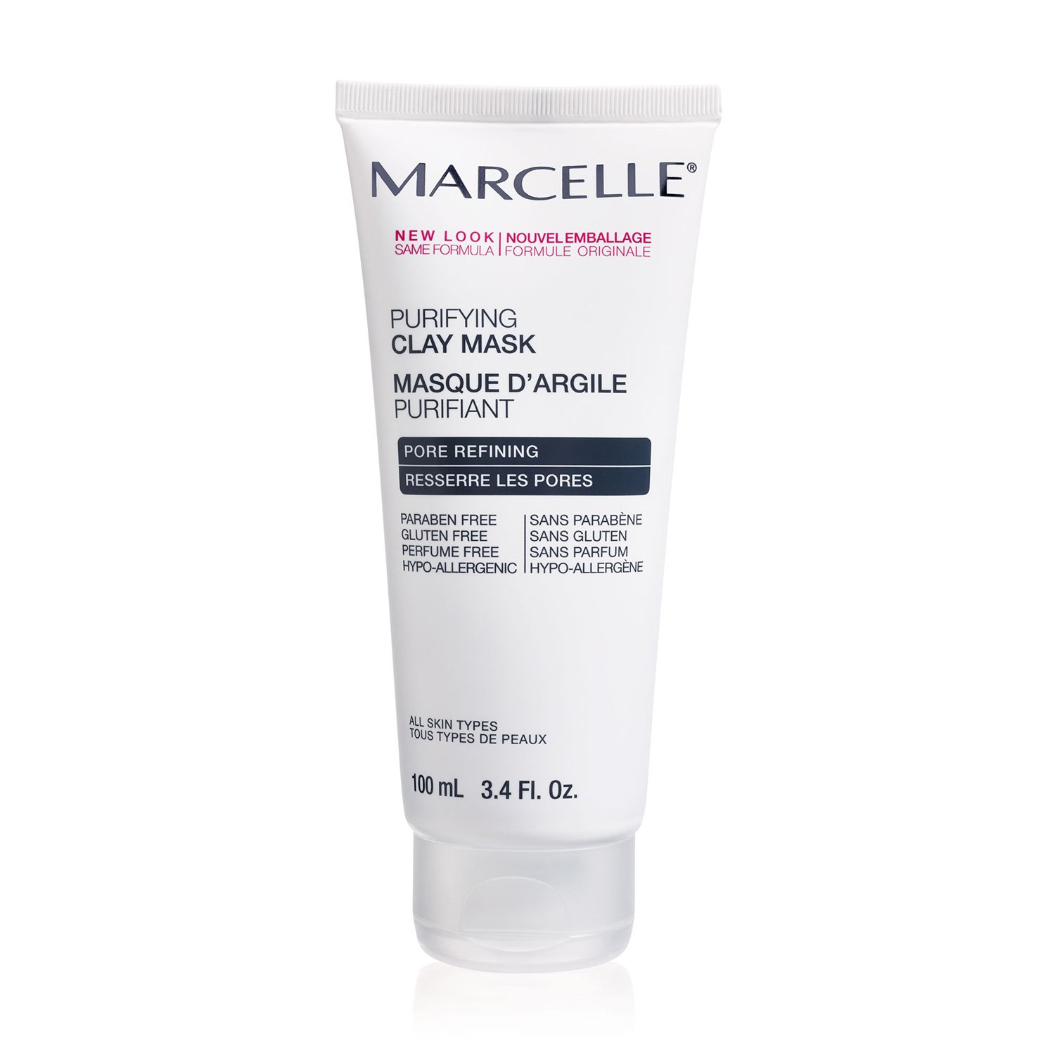 Marcelle Purifying Clay Mask Hypoallergenic And Fragrance Free, 3.38 Ounce by Marcelle