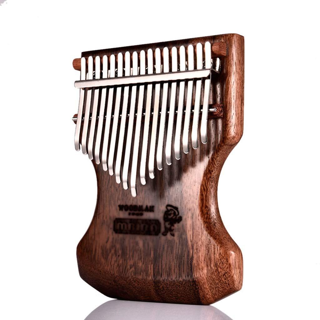 Zyj 17-Key Kalimba Solid Ebony Body Kalimba Thumb Piano Pop Keyboard Piano Instrument Portable Musical Instrument
