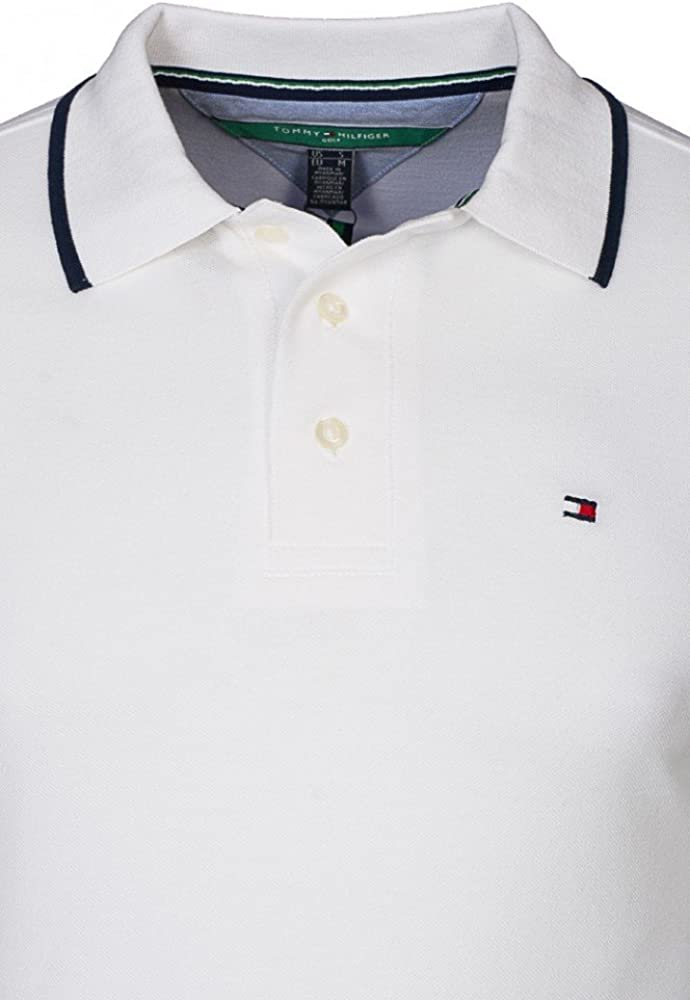 Tommy Hilfiger – polo piqué hombre, color blanco, 100% algodón ...