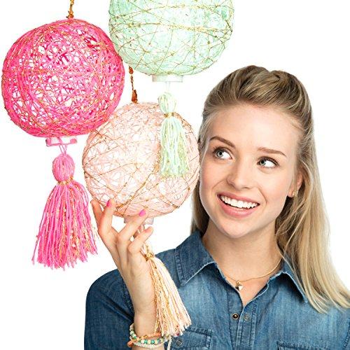 CRAFTIVITY Super String Lanterns Kit – Makes 3 String Art Lanterns