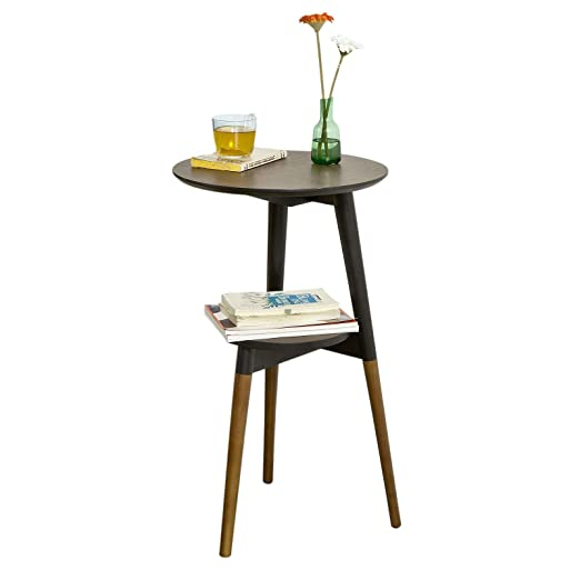 SoBuy® Mesa de café con Dos estantes, Mesa de Cocina, Mesa Redonda ...