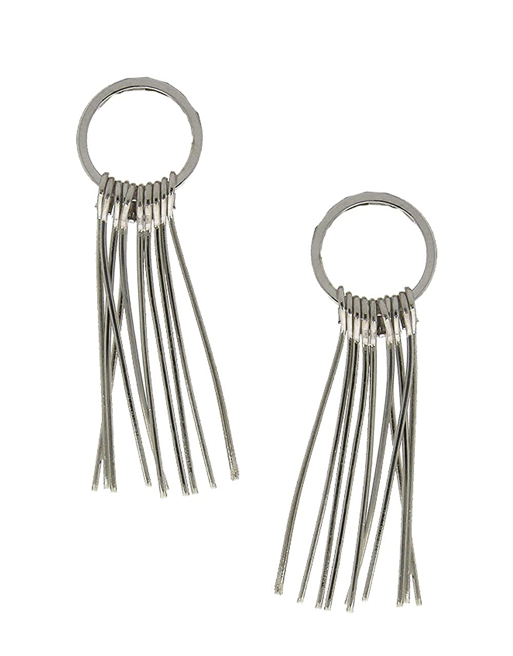 Anuradha Art Silver Finish Styled With Metal String Different Styled Designer Long Earrings For Women//Girls