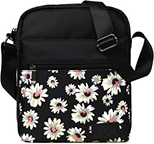 Kemy's Girls Crossbody Purse for Teen Girls Floral Purses Crossover Small Canvas Messenger Bag Tween Preteeen Little Over Shoulder Body Bags Easter Gifts