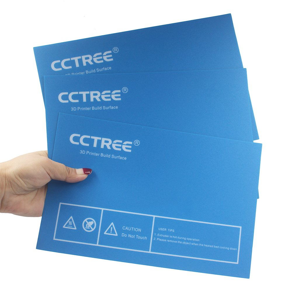 CCTREE 3D Printer Build Surface Plate For Dremel,FlashForge Creator Pro,BIBO,QIDI X-Pro 230x150mm (Pack of 3)