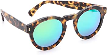 Illesteva Women s Leonard Matte Mirrored Sunglasses f4d1b58580